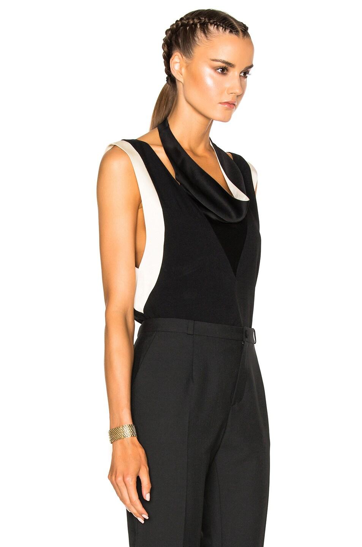 Image 3 of Lanvin Drape Top in Black