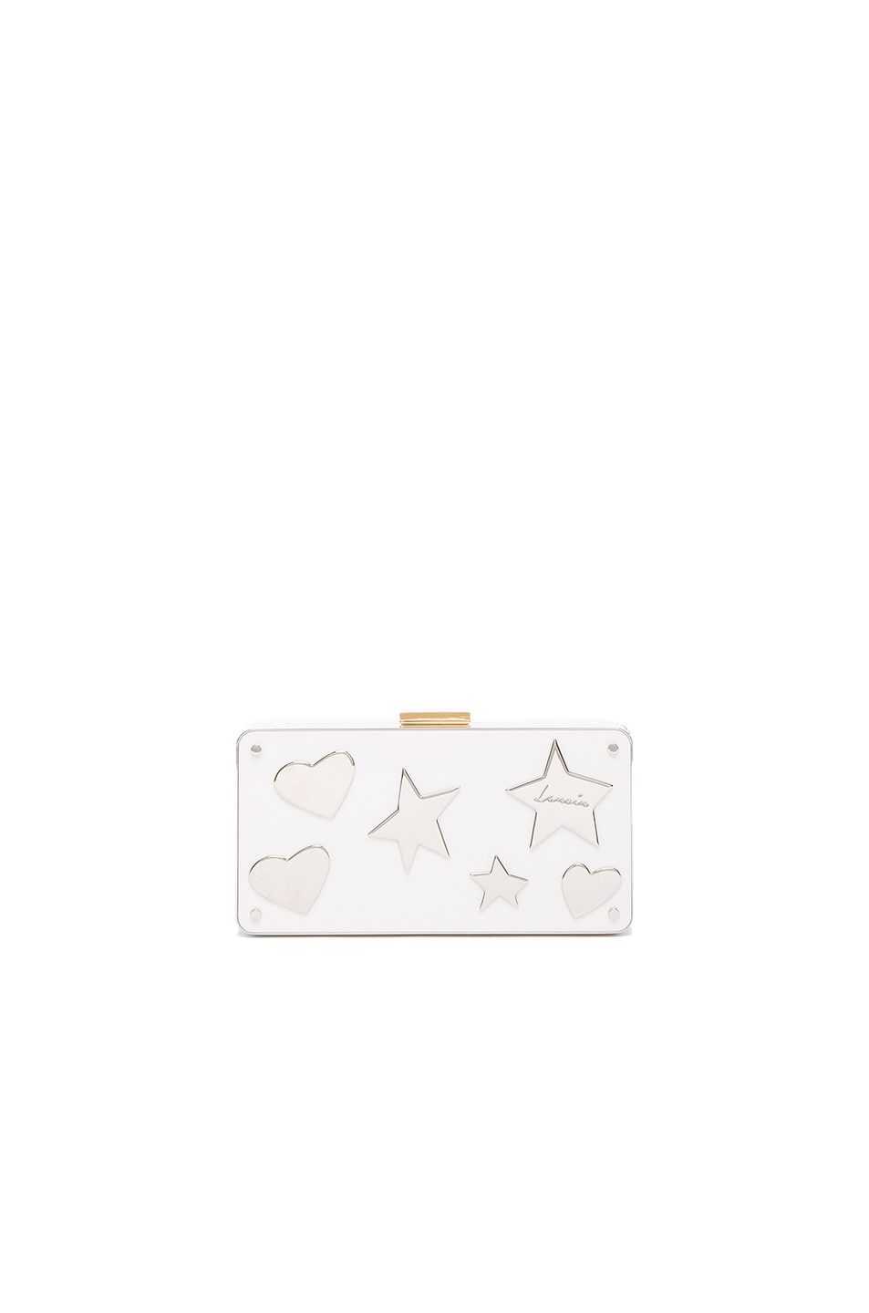 Image 1 of Lanvin Plexi Metal Clutch in Black