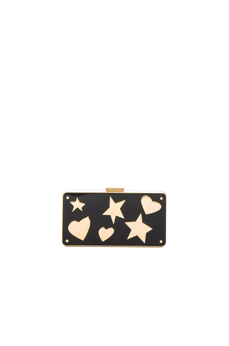 Image 3 of Lanvin Plexi Metal Clutch in Black