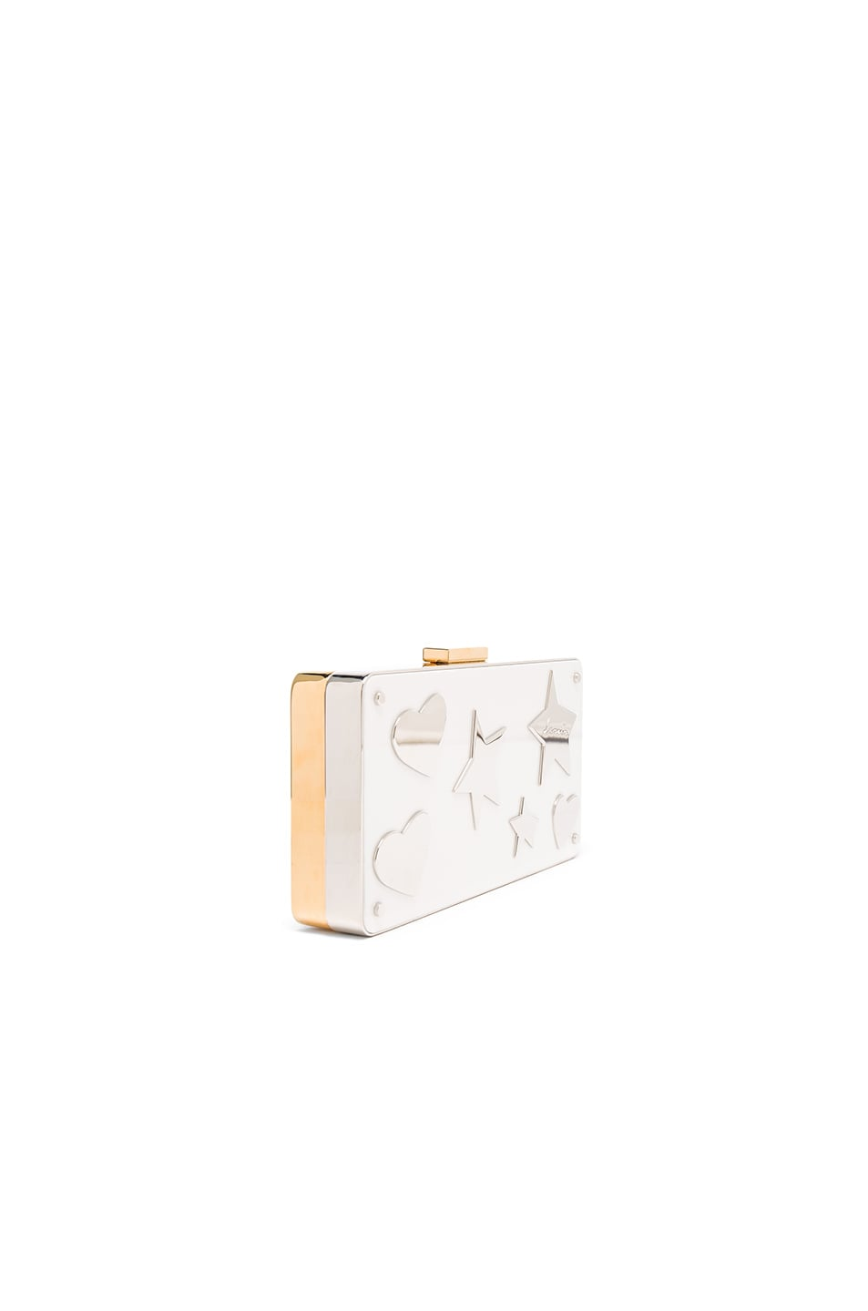 Image 4 of Lanvin Plexi Metal Clutch in Black