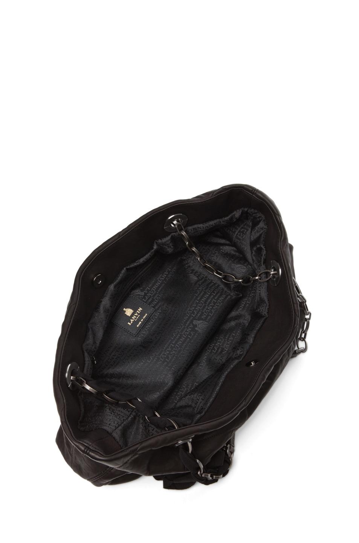 Image 4 of Lanvin Big Amalia Tote in Black