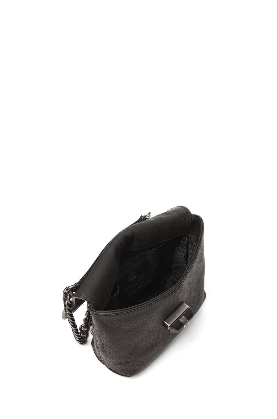 Image 4 of Lanvin Mini Pop Happy Crossover Bag in Black