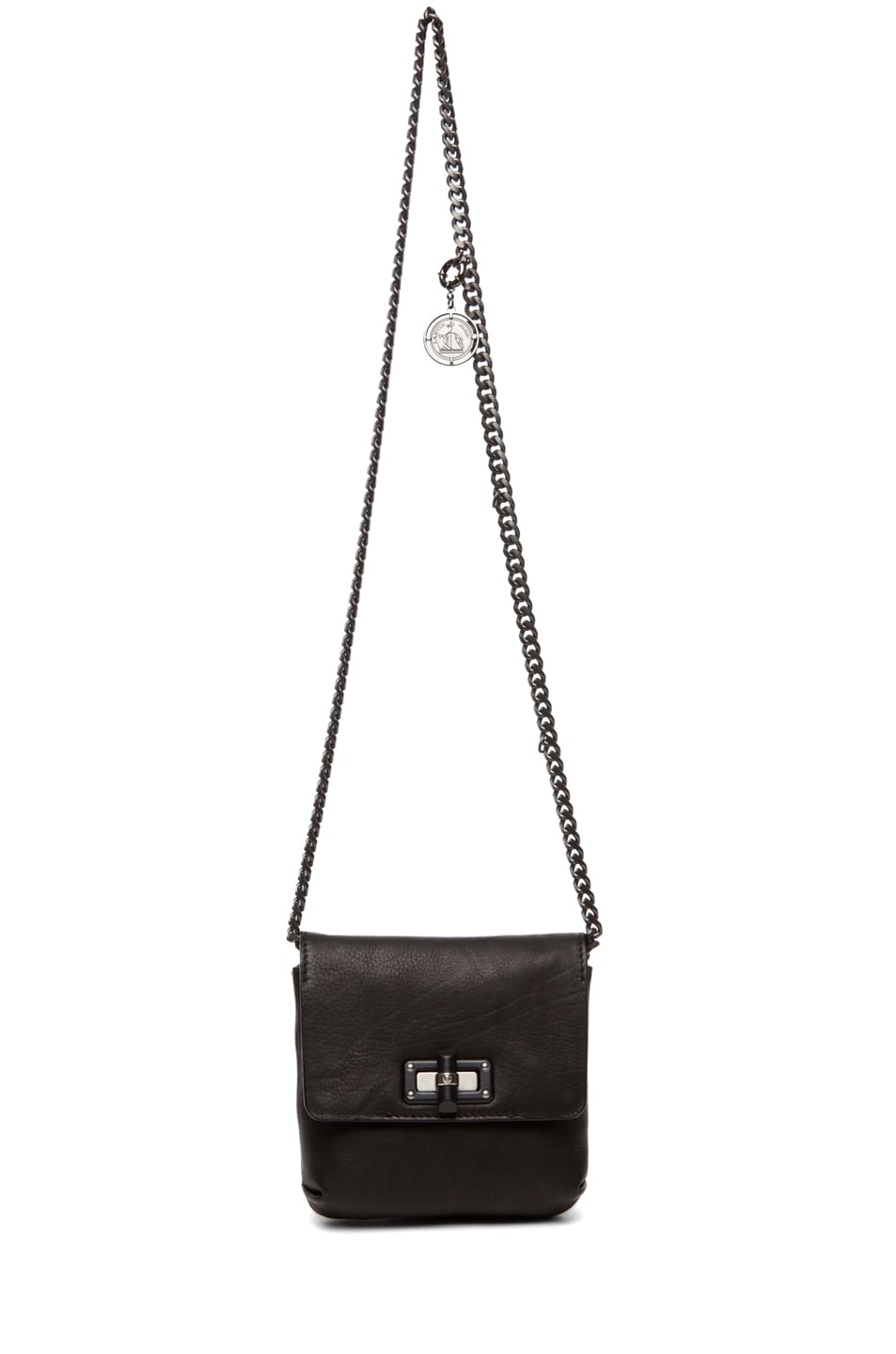 Image 5 of Lanvin Mini Pop Happy Crossover Bag in Black