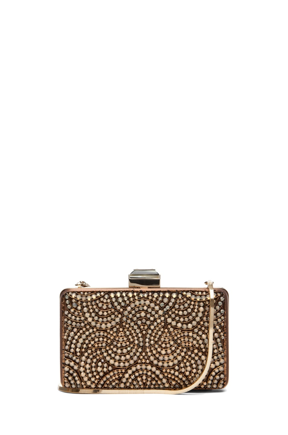 Image 1 of Lanvin Evening Clutch in Camel