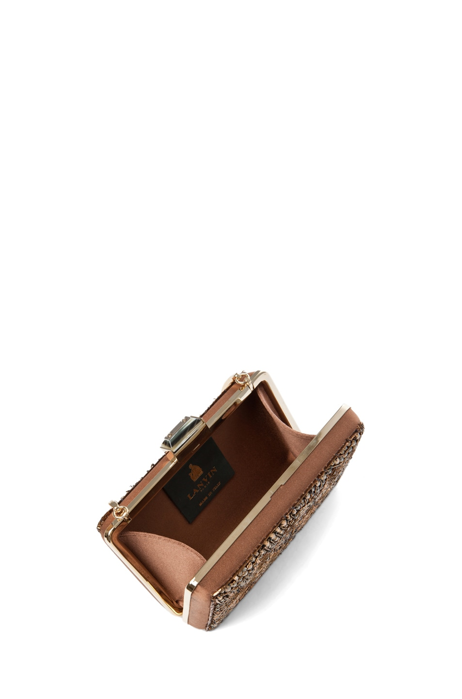 Image 4 of Lanvin Evening Clutch in Camel