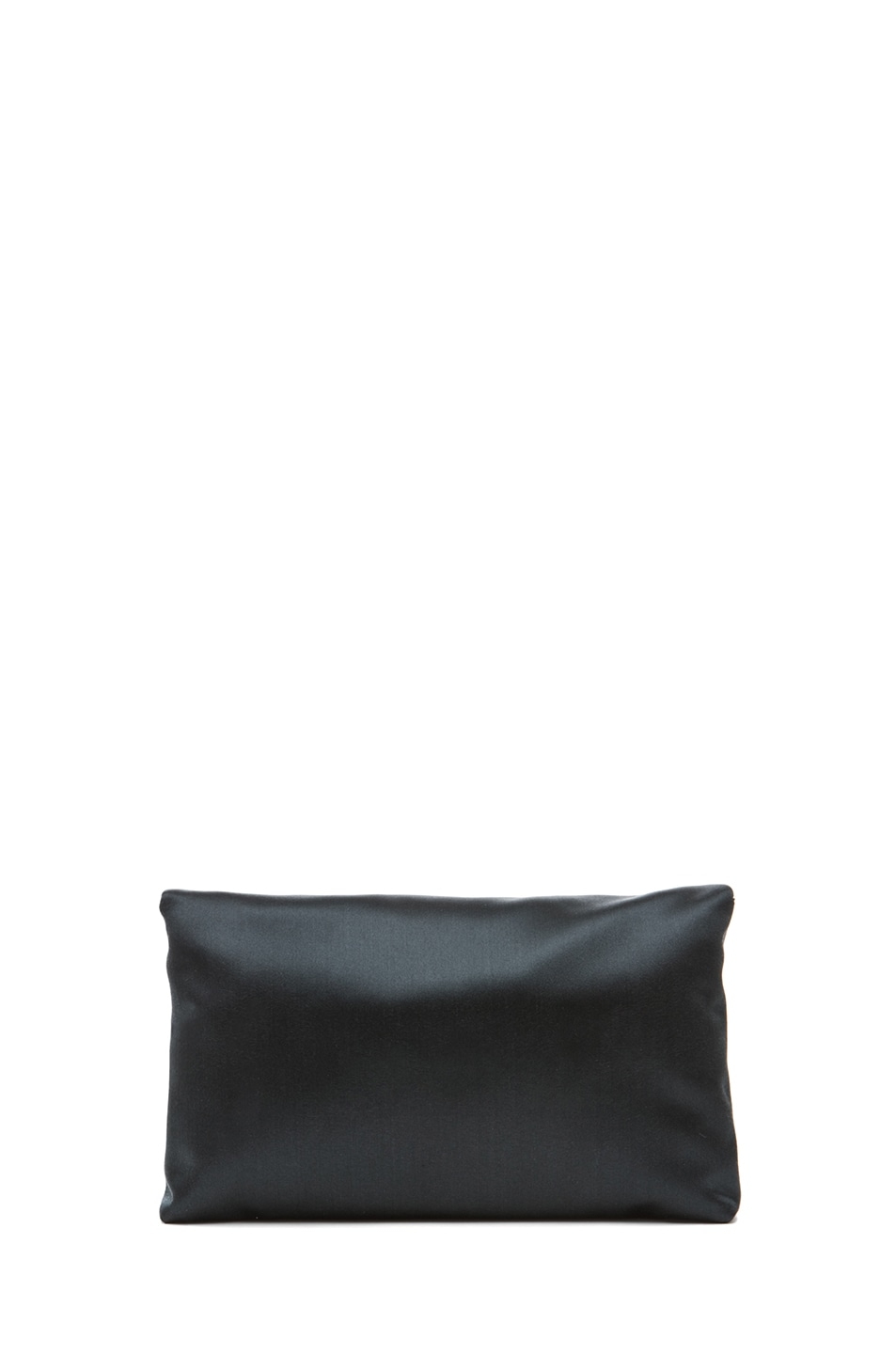 Image 2 of Lanvin Satin Dinner Clutch in Grey