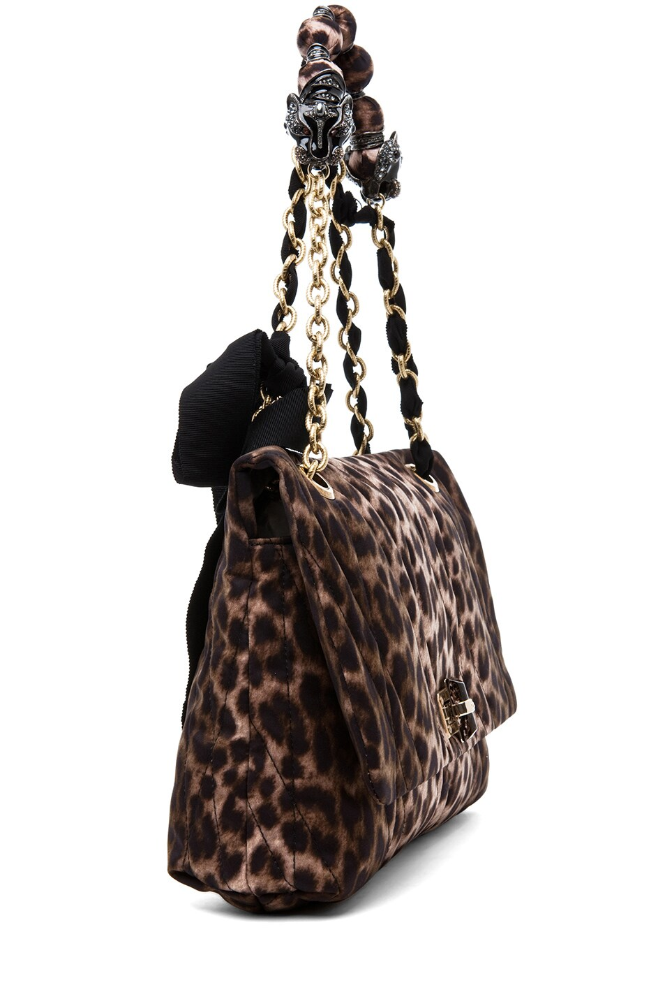 Image 2 of Lanvin 10 Year Anniversary Happy Handbag in Leopard