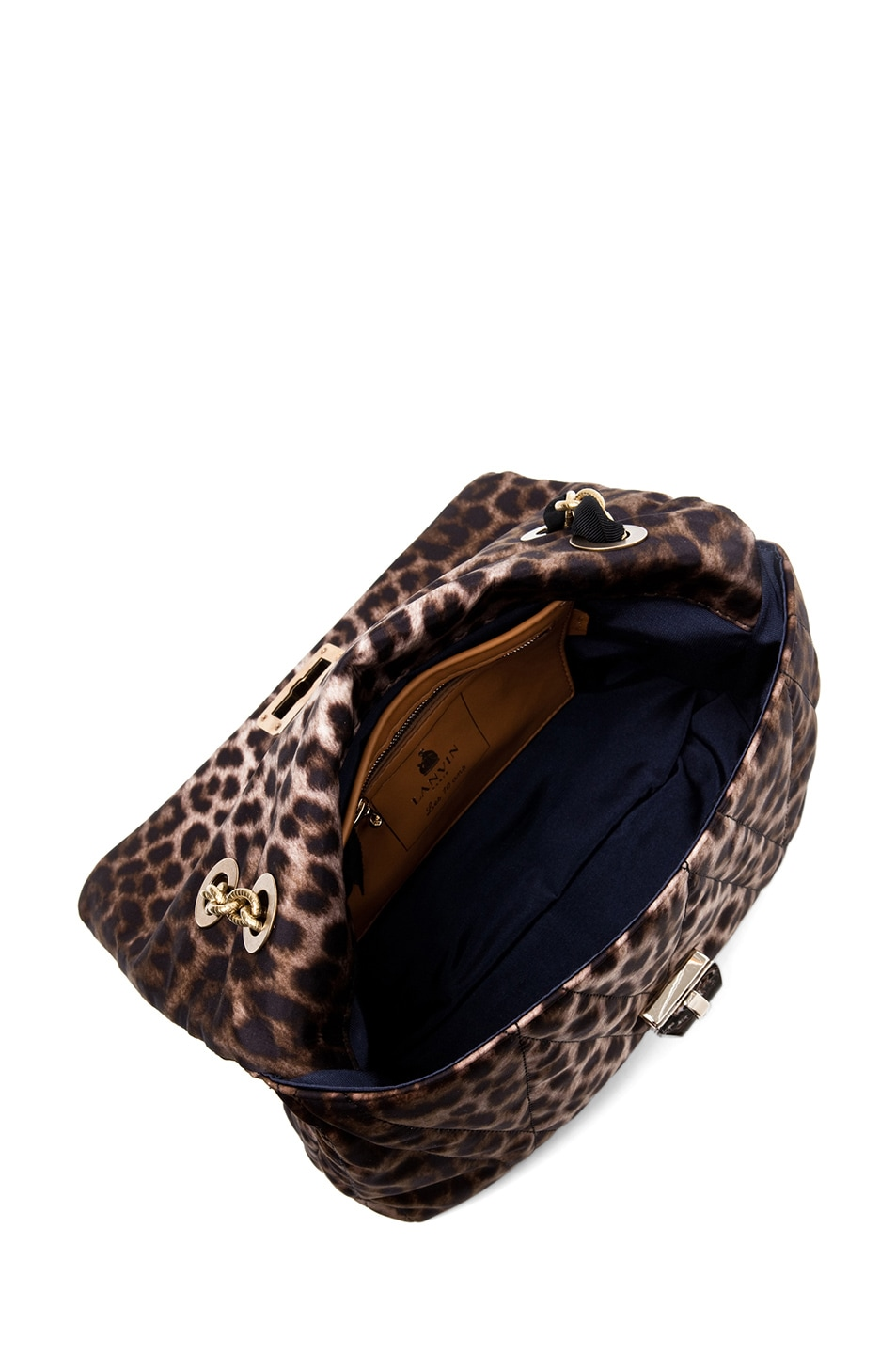 Image 4 of Lanvin 10 Year Anniversary Happy Handbag in Leopard