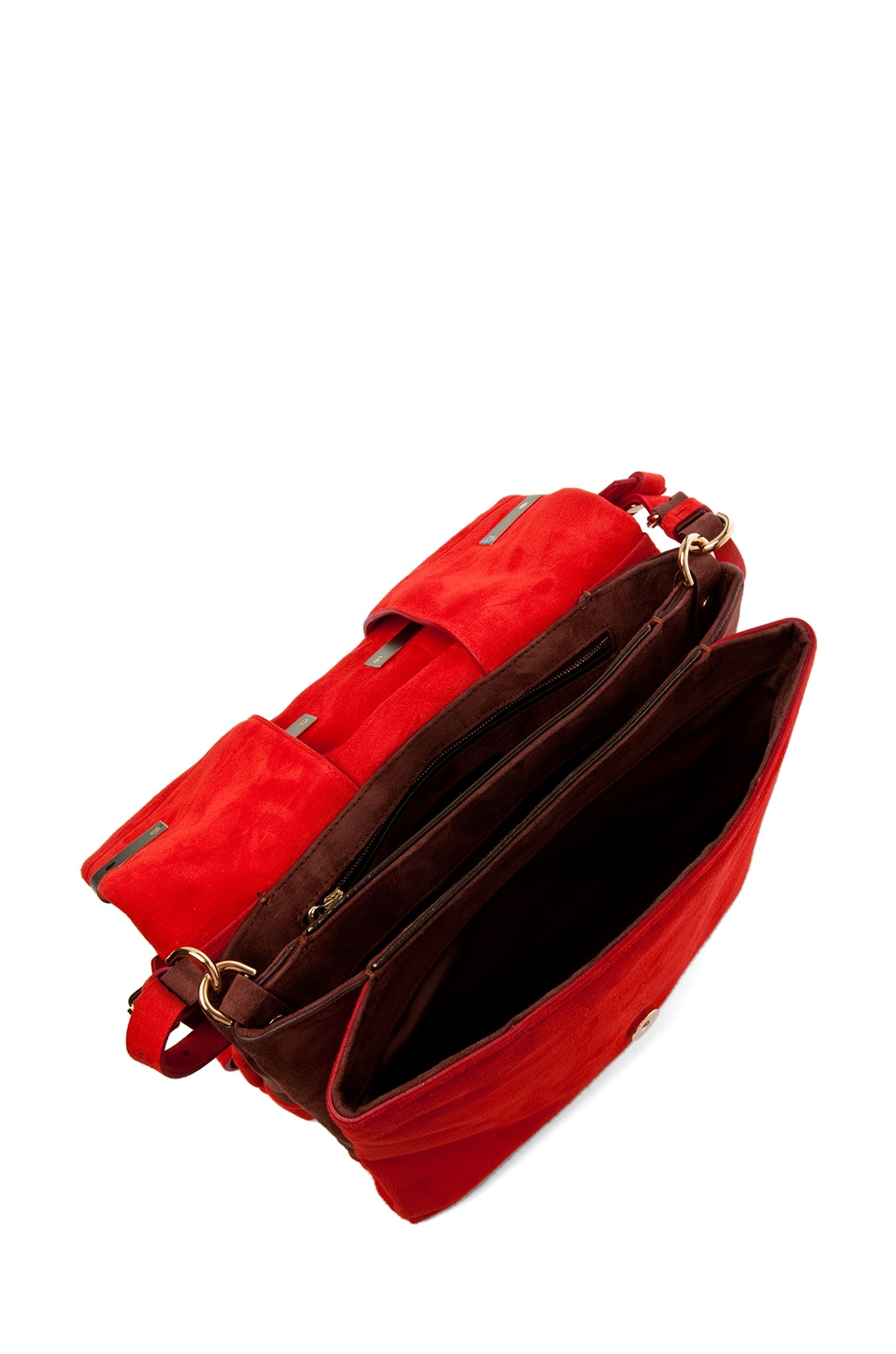 Image 4 of Lanvin Small Shoulder Bag in Poppy