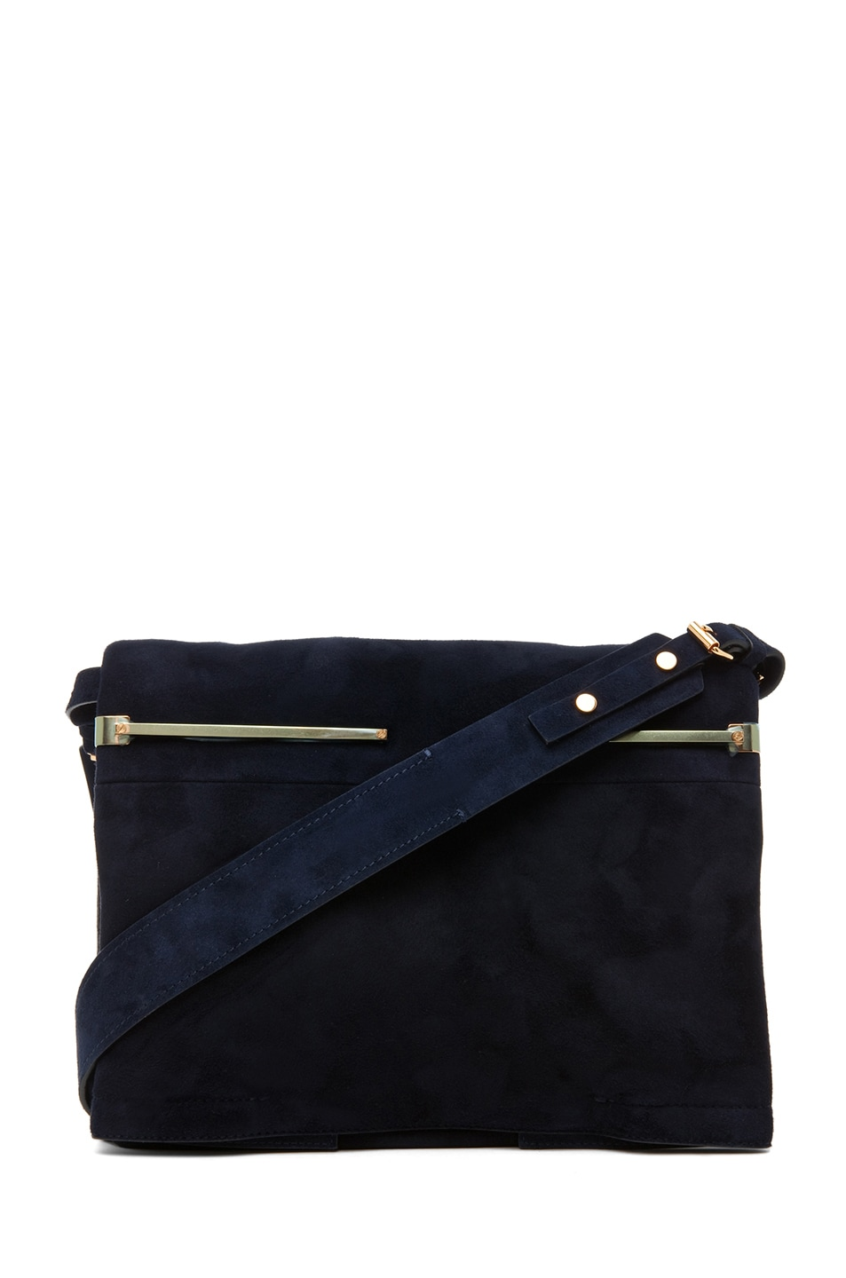 Image 1 of Lanvin Small Shoulder Bag in Blue Marine