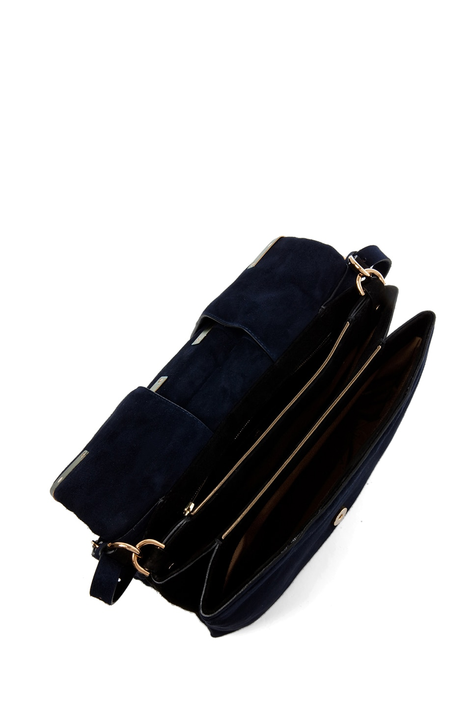 Image 4 of Lanvin Small Shoulder Bag in Blue Marine