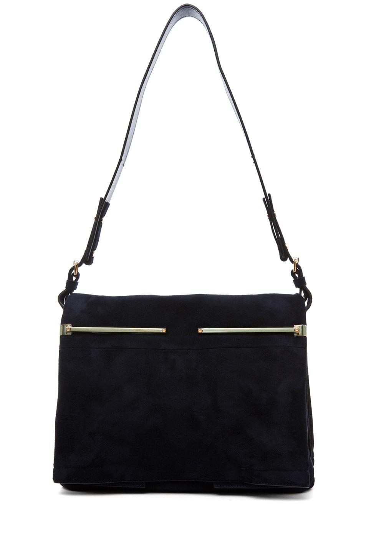 Image 5 of Lanvin Small Shoulder Bag in Blue Marine