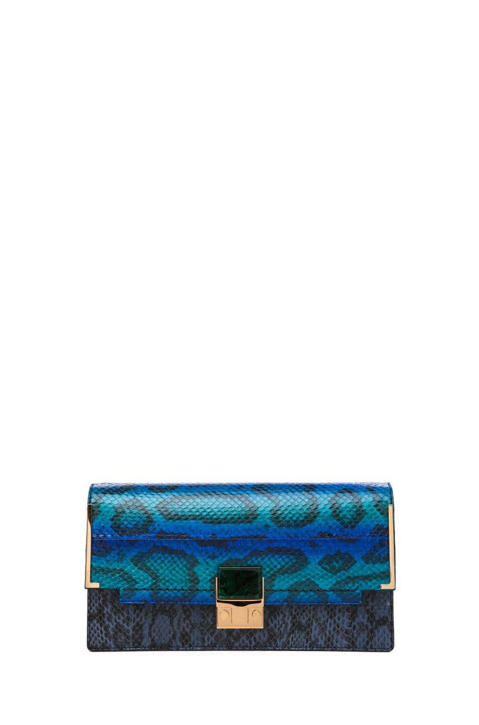 Image 1 of Lanvin Partition Snake Clutch in Electrical Blue