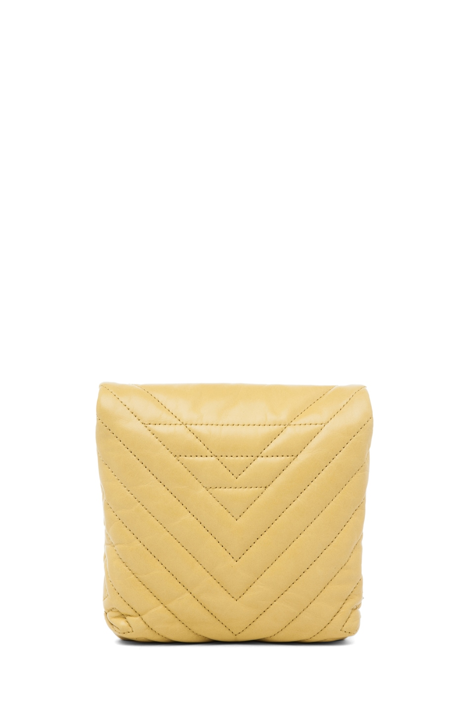 Image 2 of Lanvin Mini Pop Happy Quilted Shoulder Bag in Yellow