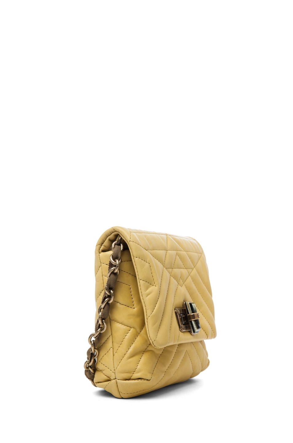 Image 3 of Lanvin Mini Pop Happy Quilted Shoulder Bag in Yellow