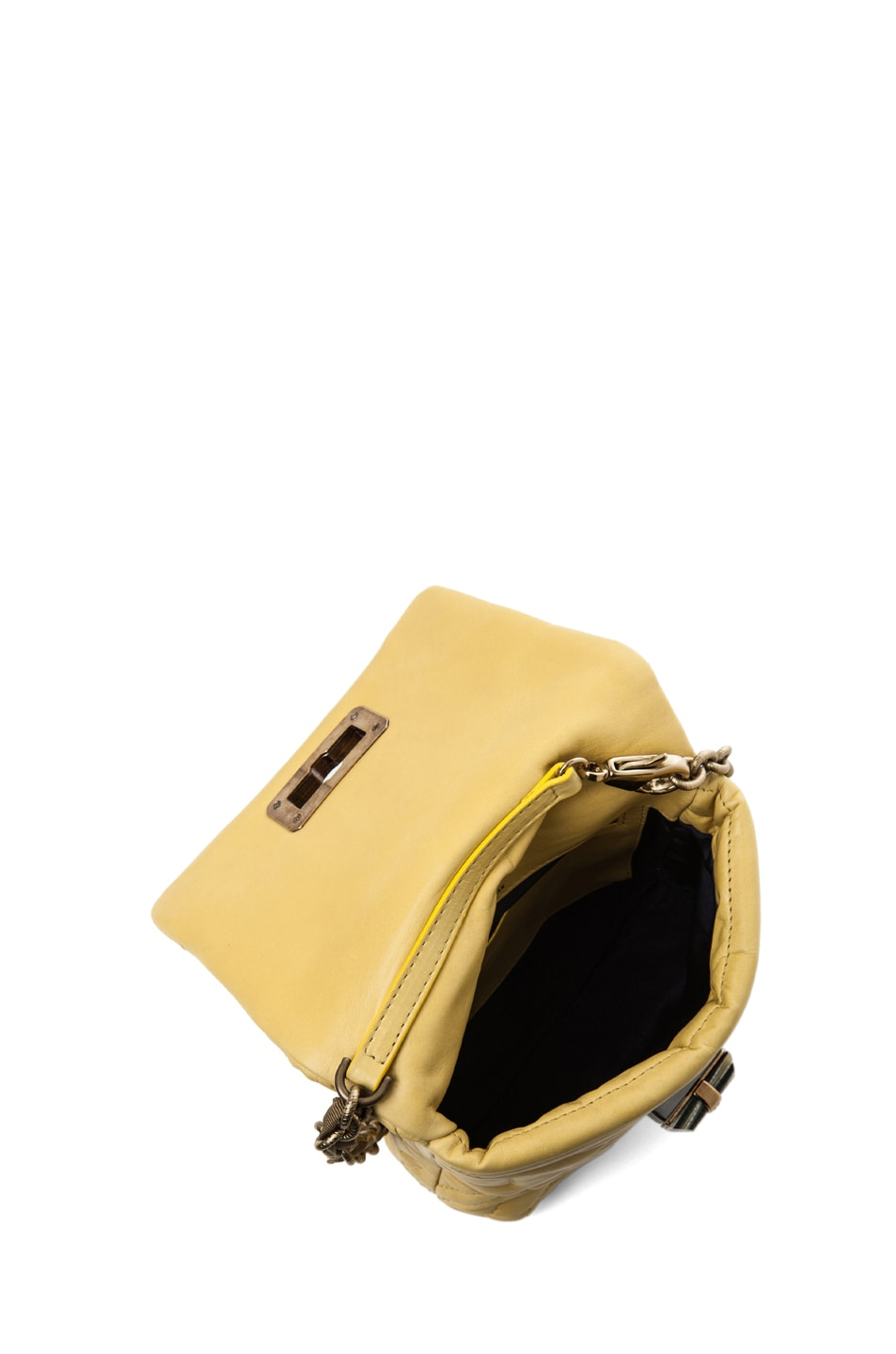 Image 4 of Lanvin Mini Pop Happy Quilted Shoulder Bag in Yellow