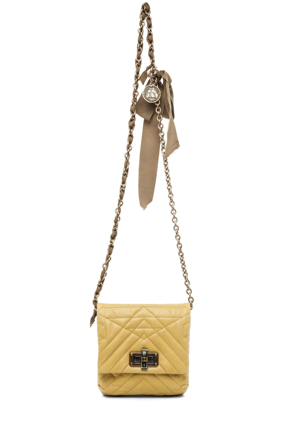 Image 5 of Lanvin Mini Pop Happy Quilted Shoulder Bag in Yellow