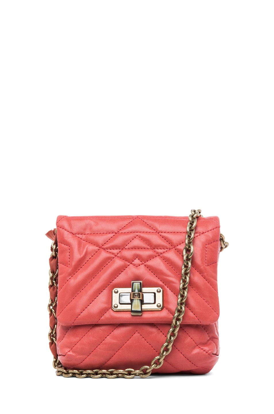 Image 1 of Lanvin Mini Pop Happy Quilted Shoulder Bag in Pink
