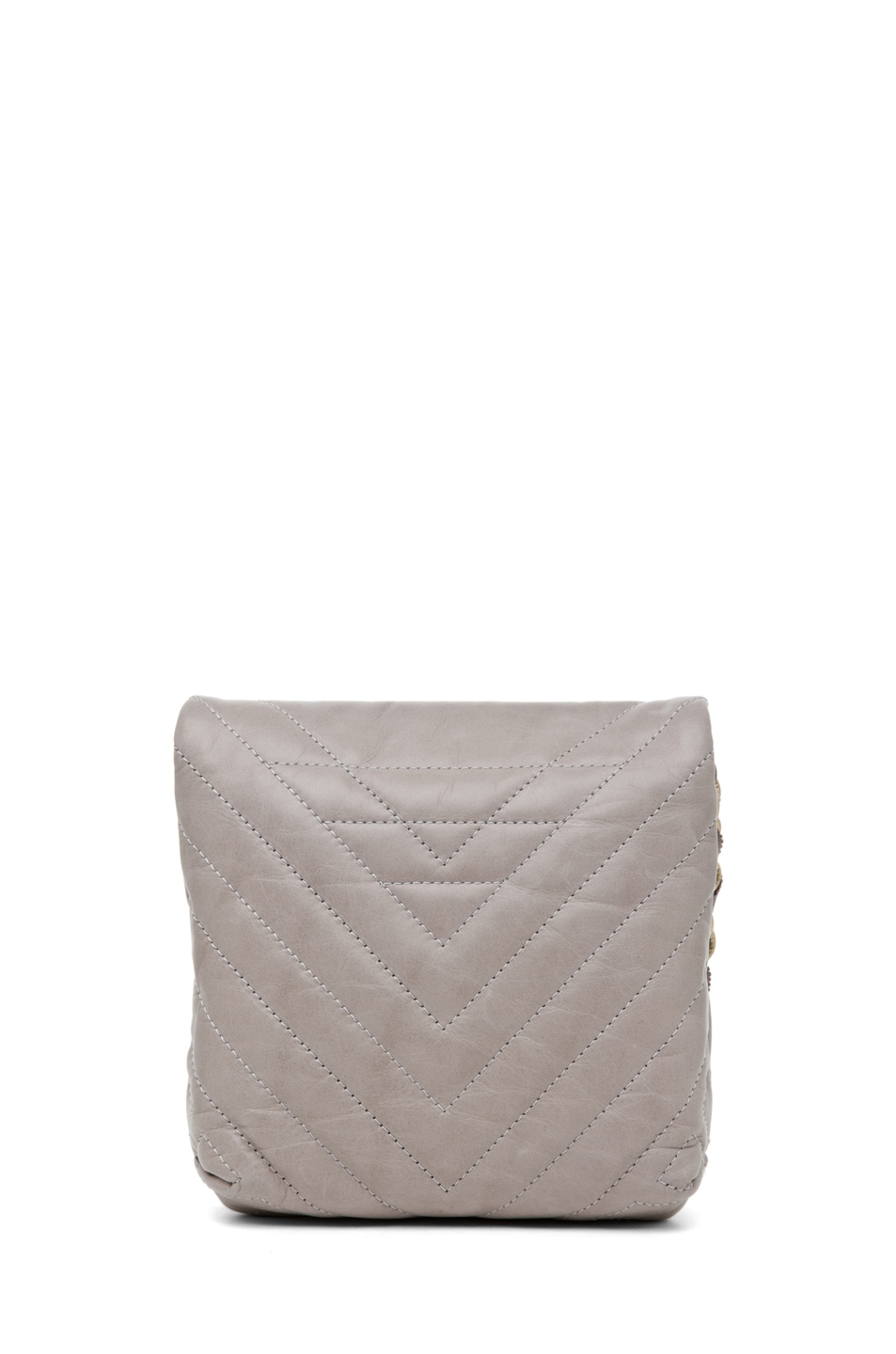 Image 2 of Lanvin Mini Pop Happy Quilted Shoulder Bag in Heather Grey