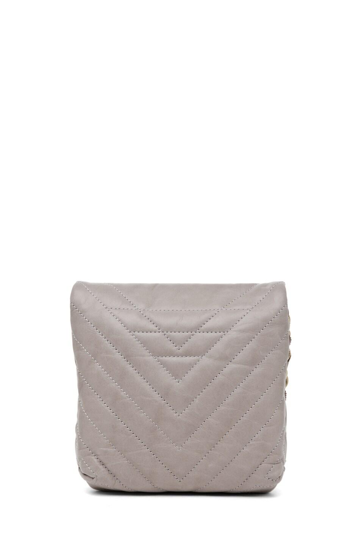 Image 2 of Lanvin Mini Pop Happy Quilted Shoulder Bag in Heather Grey