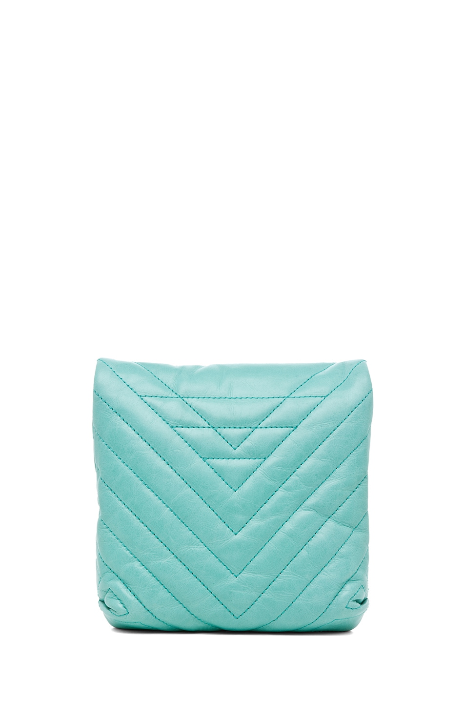 Image 2 of Lanvin Mini Pop Happy Quilted Shoulder Bag in Light Green