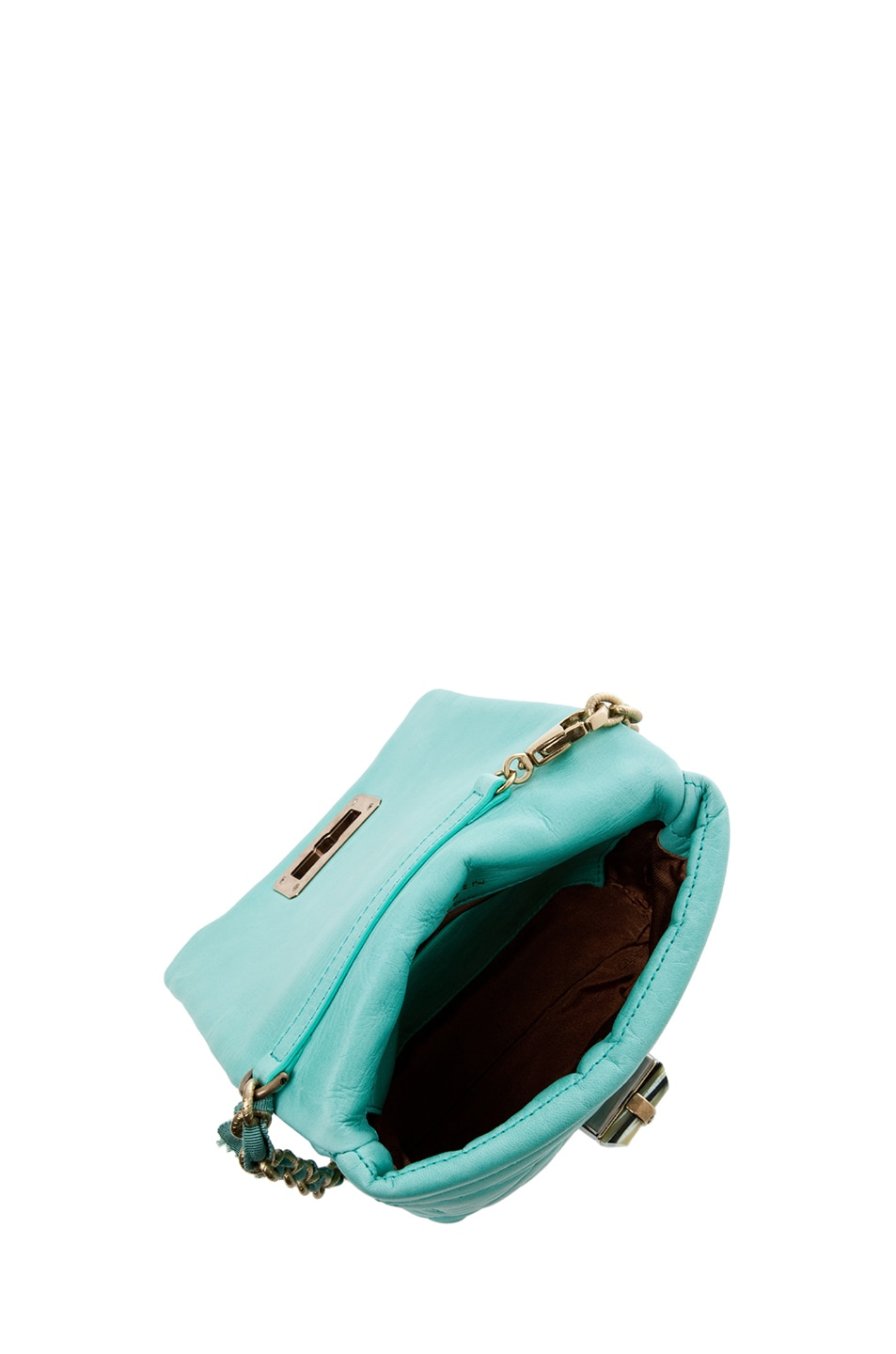 Image 4 of Lanvin Mini Pop Happy Quilted Shoulder Bag in Light Green