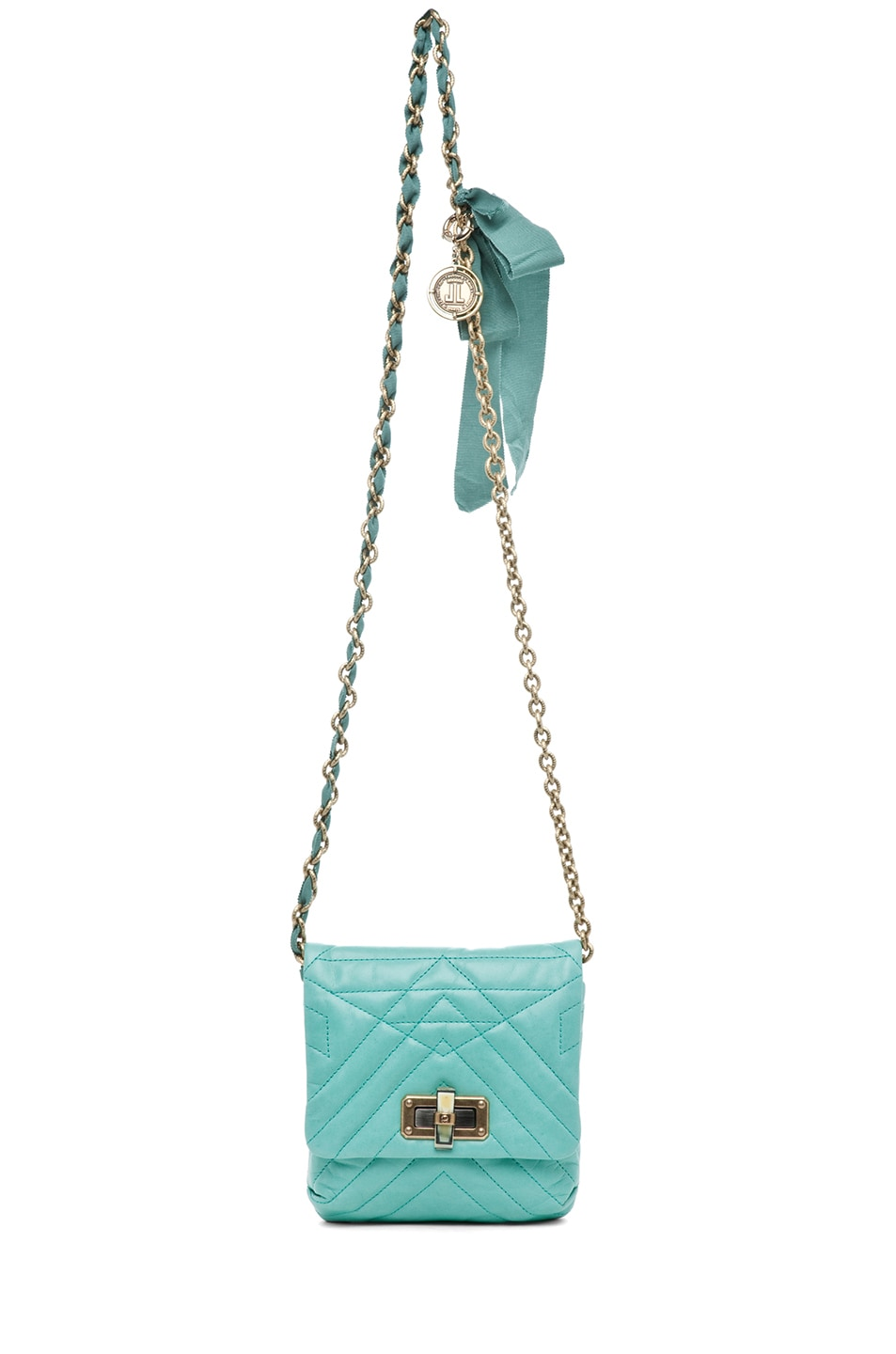 Image 5 of Lanvin Mini Pop Happy Quilted Shoulder Bag in Light Green