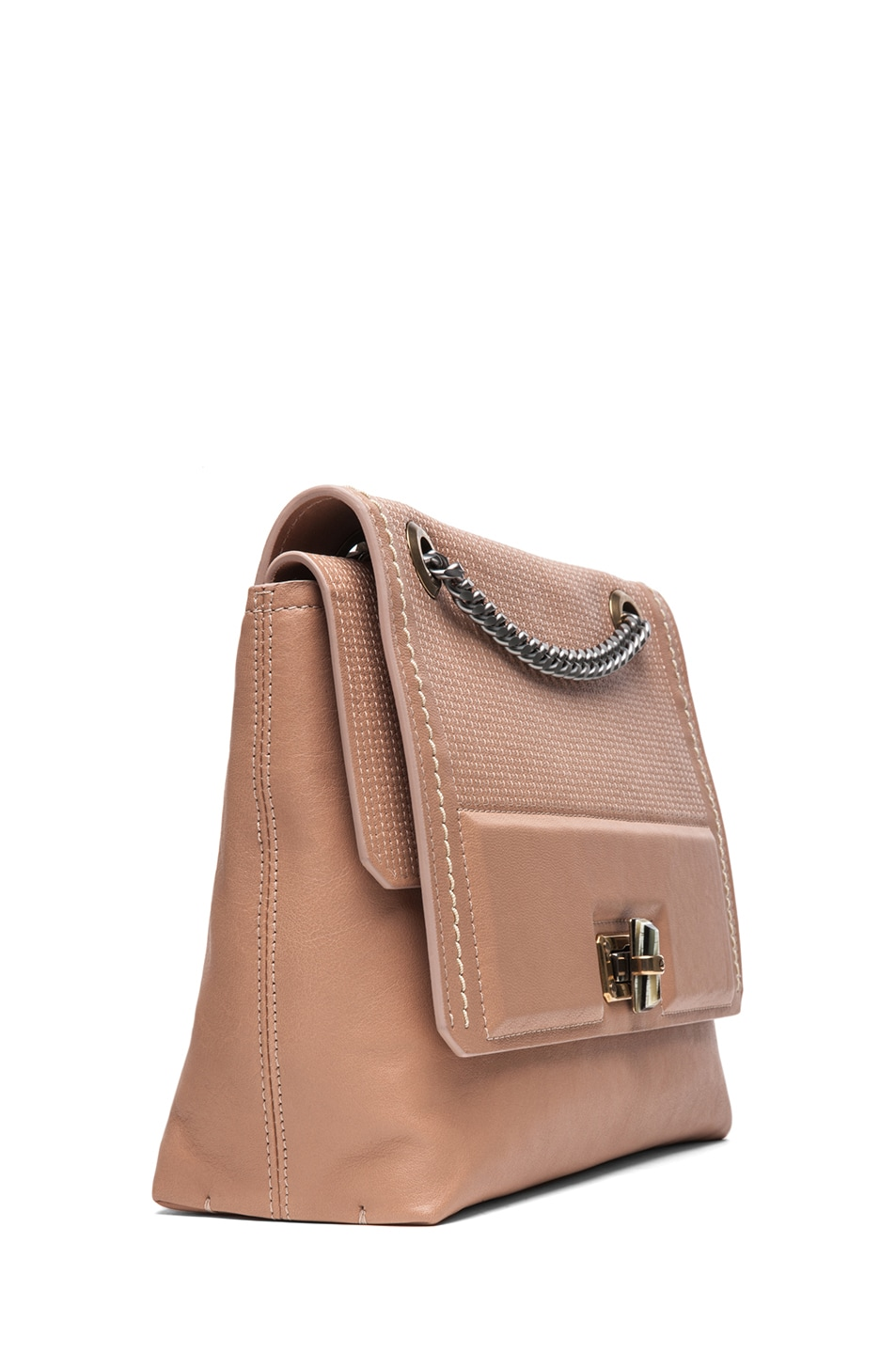 Image 3 of Lanvin Happy Bag in Beige
