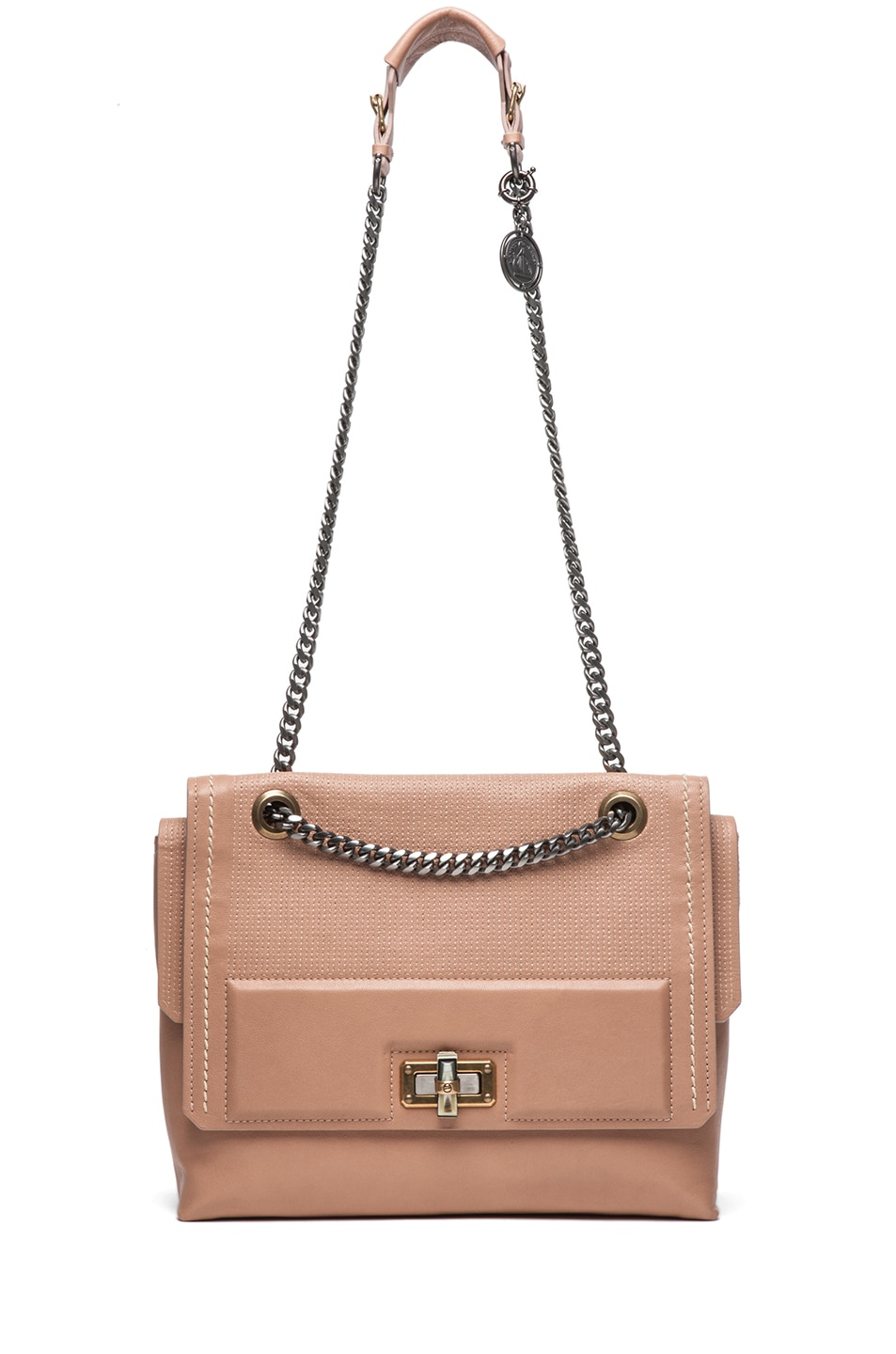 Image 5 of Lanvin Happy Bag in Beige