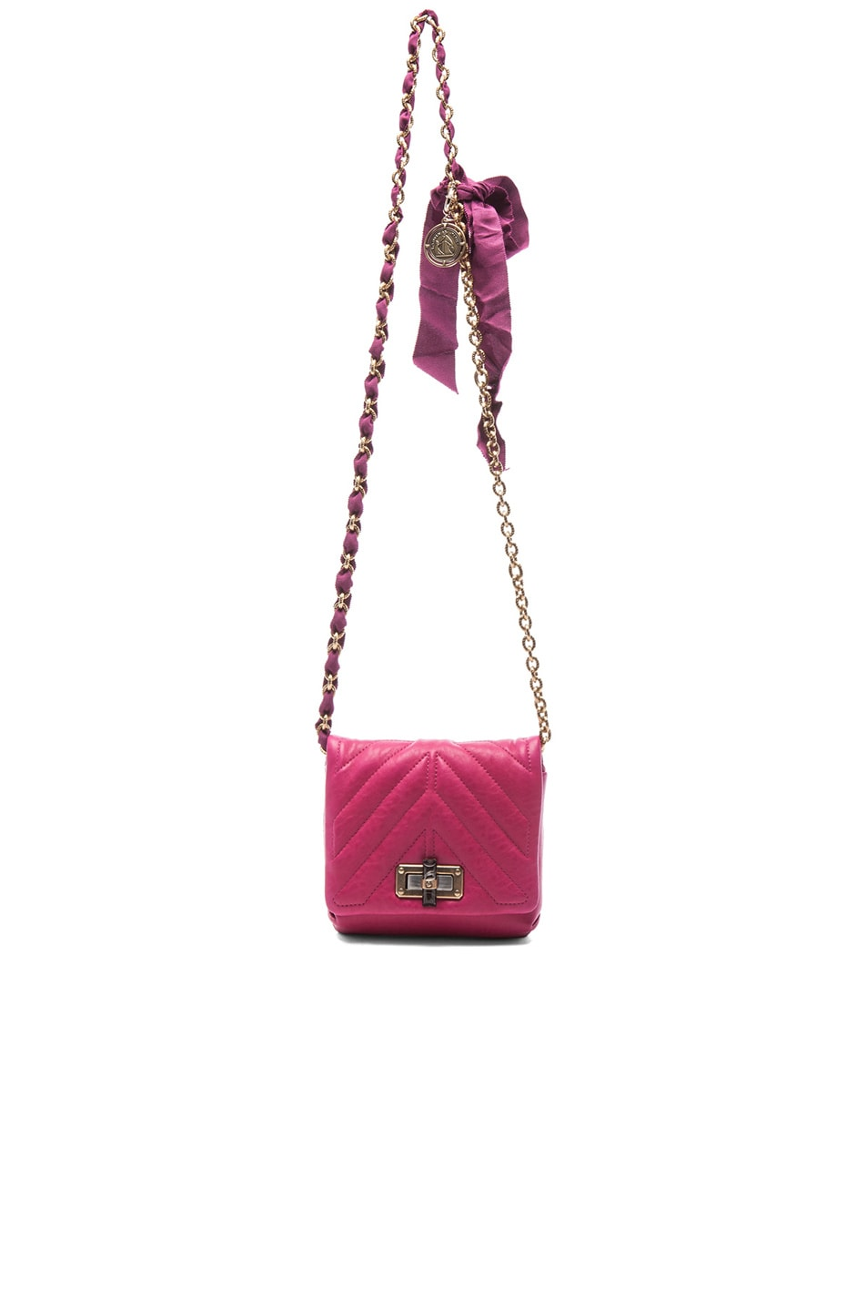 Image 6 of Lanvin Mini Happy Quilted Pop in Fuchsia
