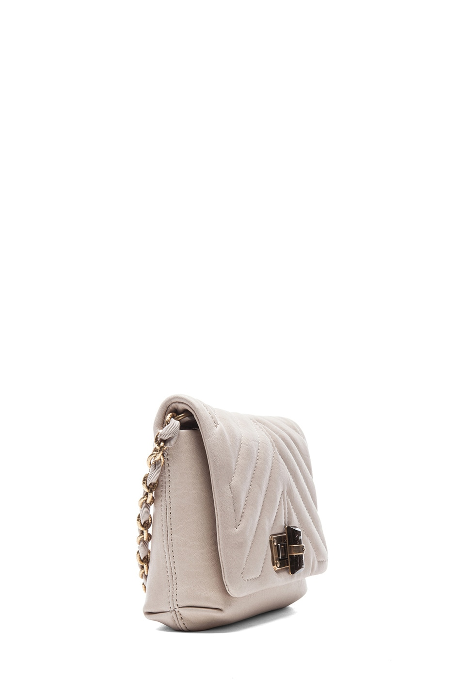 Image 3 of Lanvin Happy Quilted Mini in Ivory