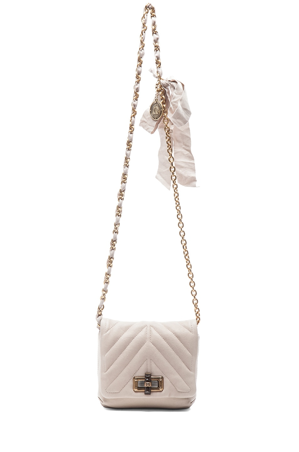Image 5 of Lanvin Happy Quilted Mini in Ivory