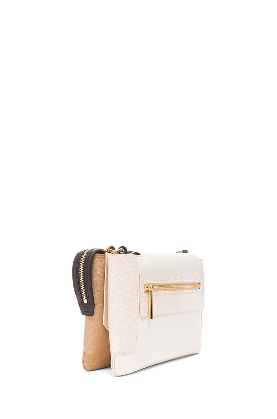 Image 3 of Lanvin Small Crossbody in Ivory
