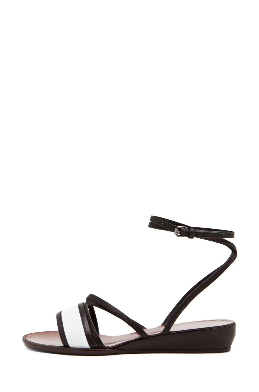 Image 1 of Lanvin Stripe Sandal in White