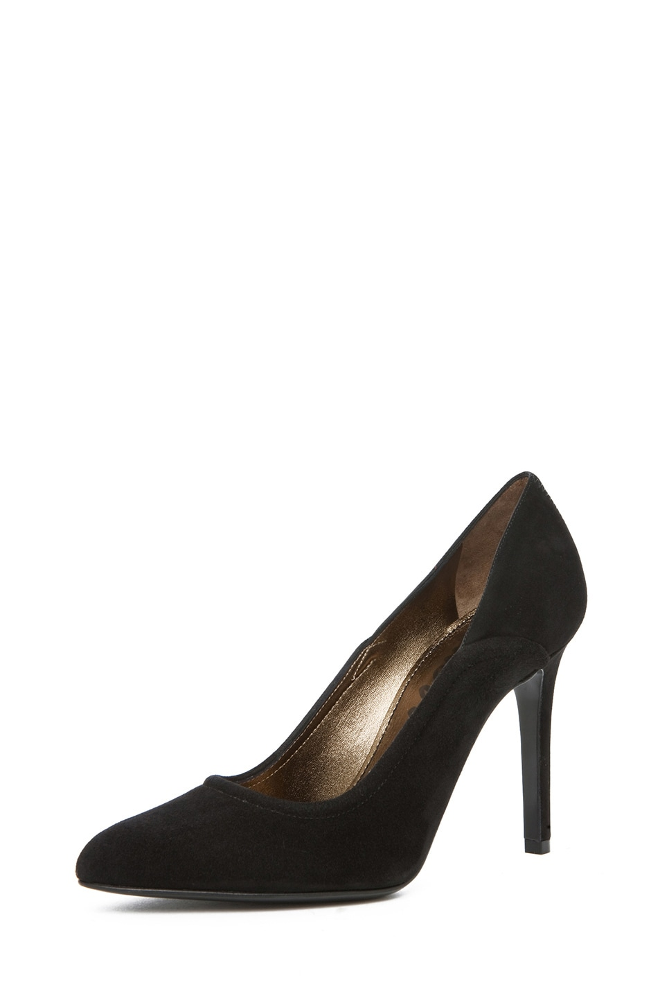Image 2 of Lanvin Suede Pump in Black