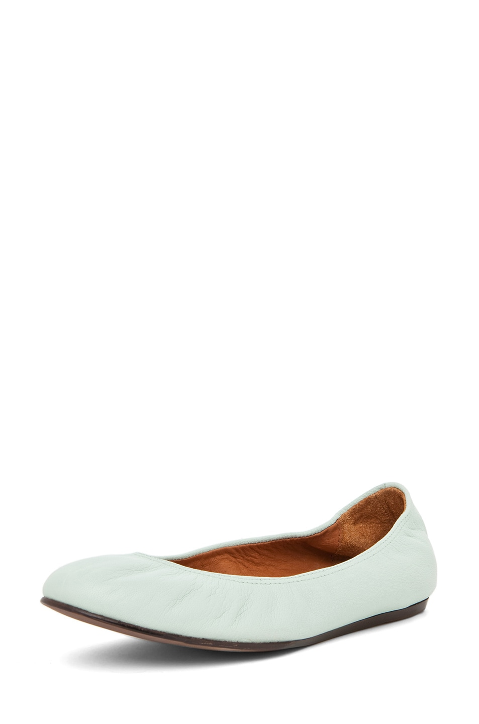 Image 2 of Lanvin Classic Ballerina Flat in Light Green
