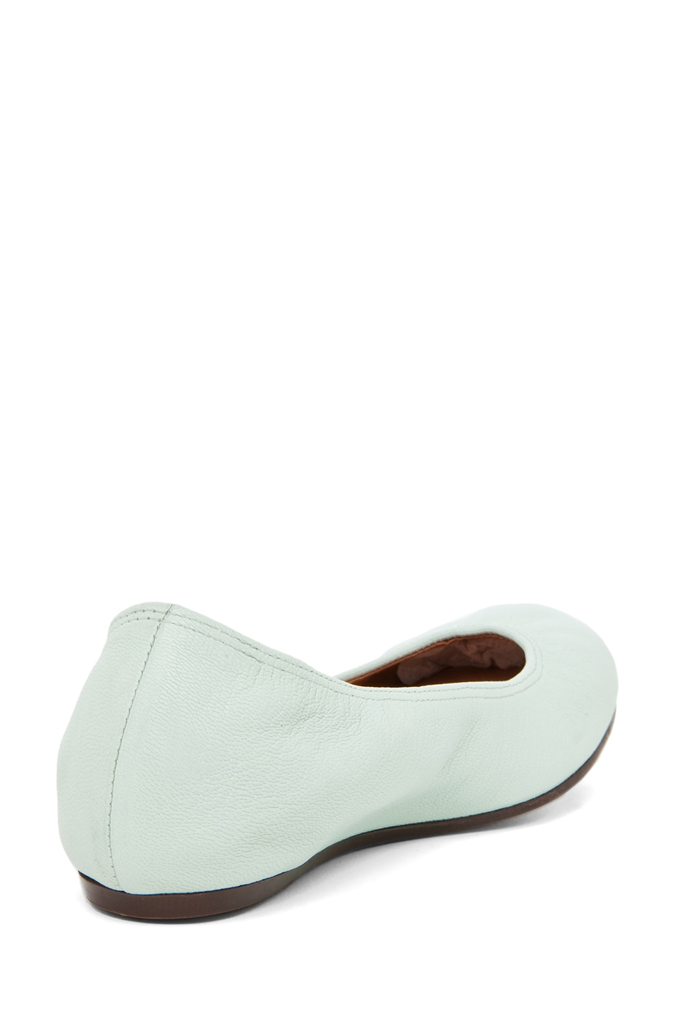 Image 3 of Lanvin Classic Ballerina Flat in Light Green