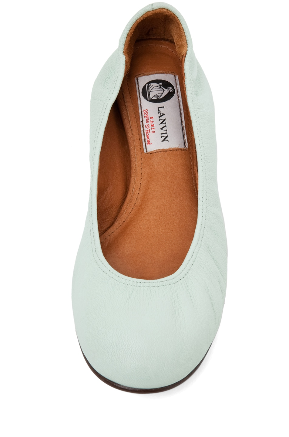 Image 4 of Lanvin Classic Ballerina Flat in Light Green