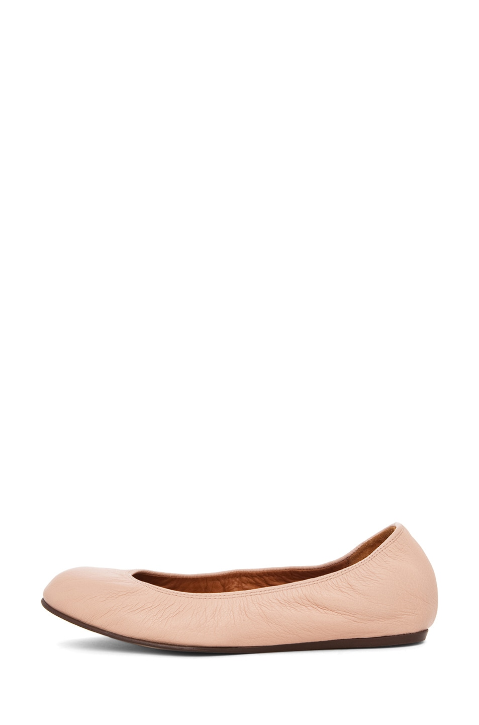 Image 1 of Lanvin Classic Ballerina Flat in Light Pink