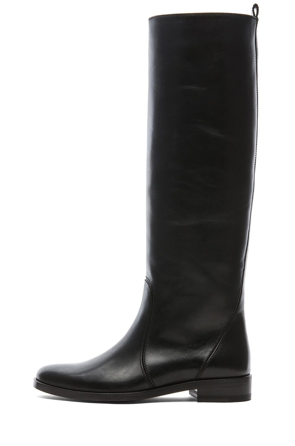 Image 1 of Lanvin Leather Riding Boots in Black