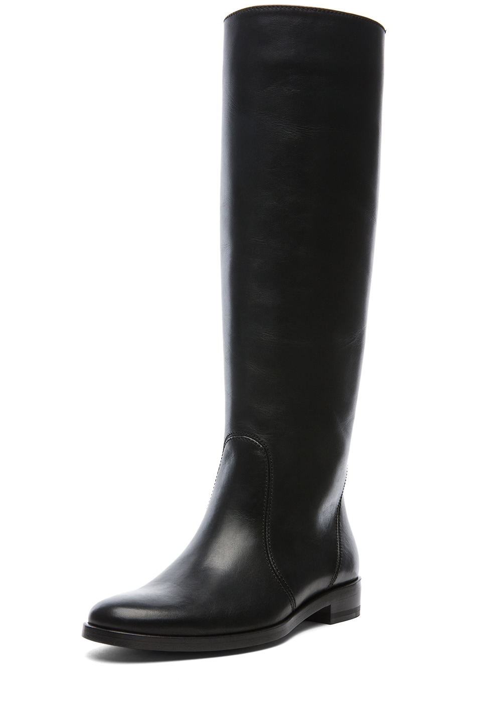 Image 2 of Lanvin Leather Riding Boots in Black
