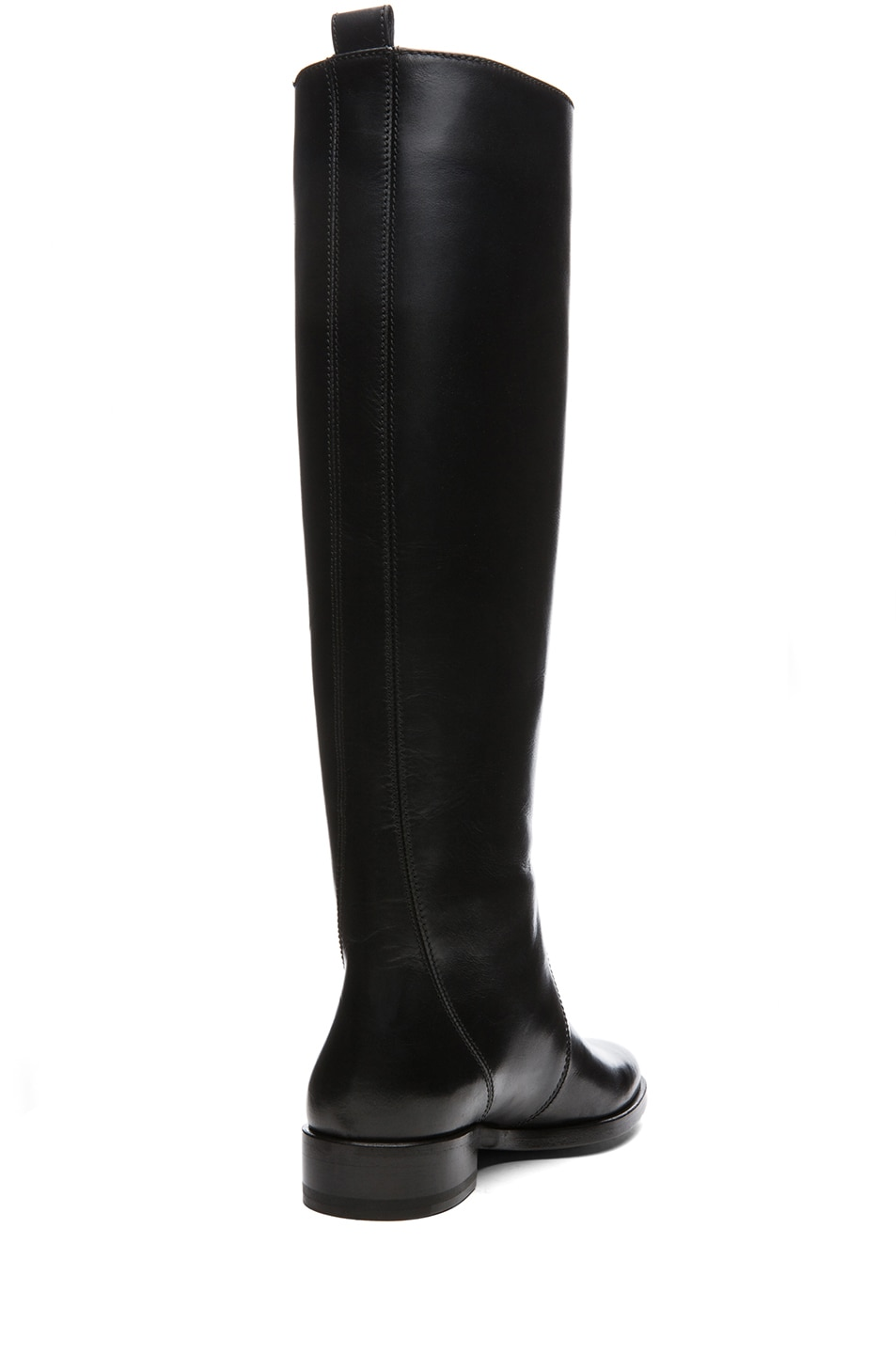 Image 3 of Lanvin Leather Riding Boots in Black