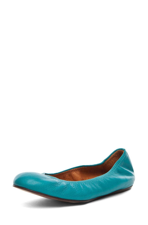 Image 2 of Lanvin Ballerina Flat in Bleu Canard