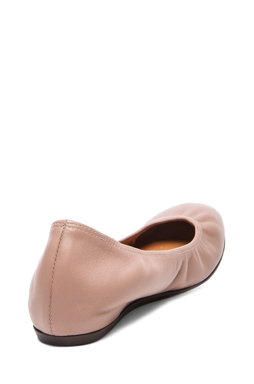 Image 3 of Lanvin Lambskin Leather Ballerina Flats in Nude