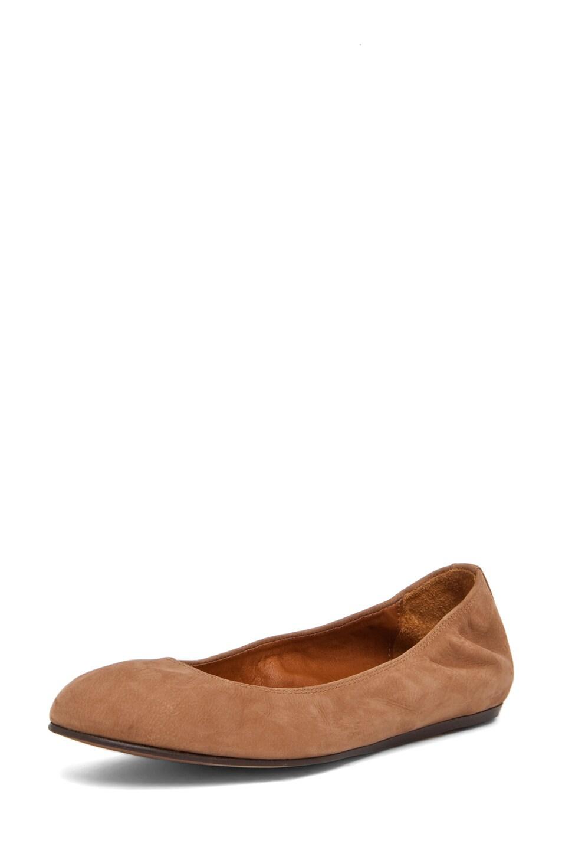 Image 2 of Lanvin Ballerina Flat in Brown