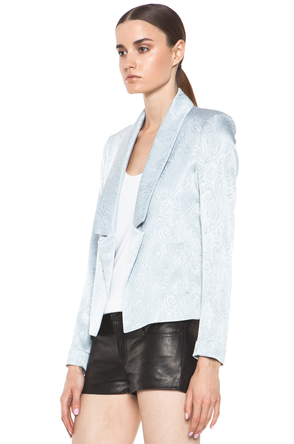 Image 2 of Laveer Savoy Blazer in Silver