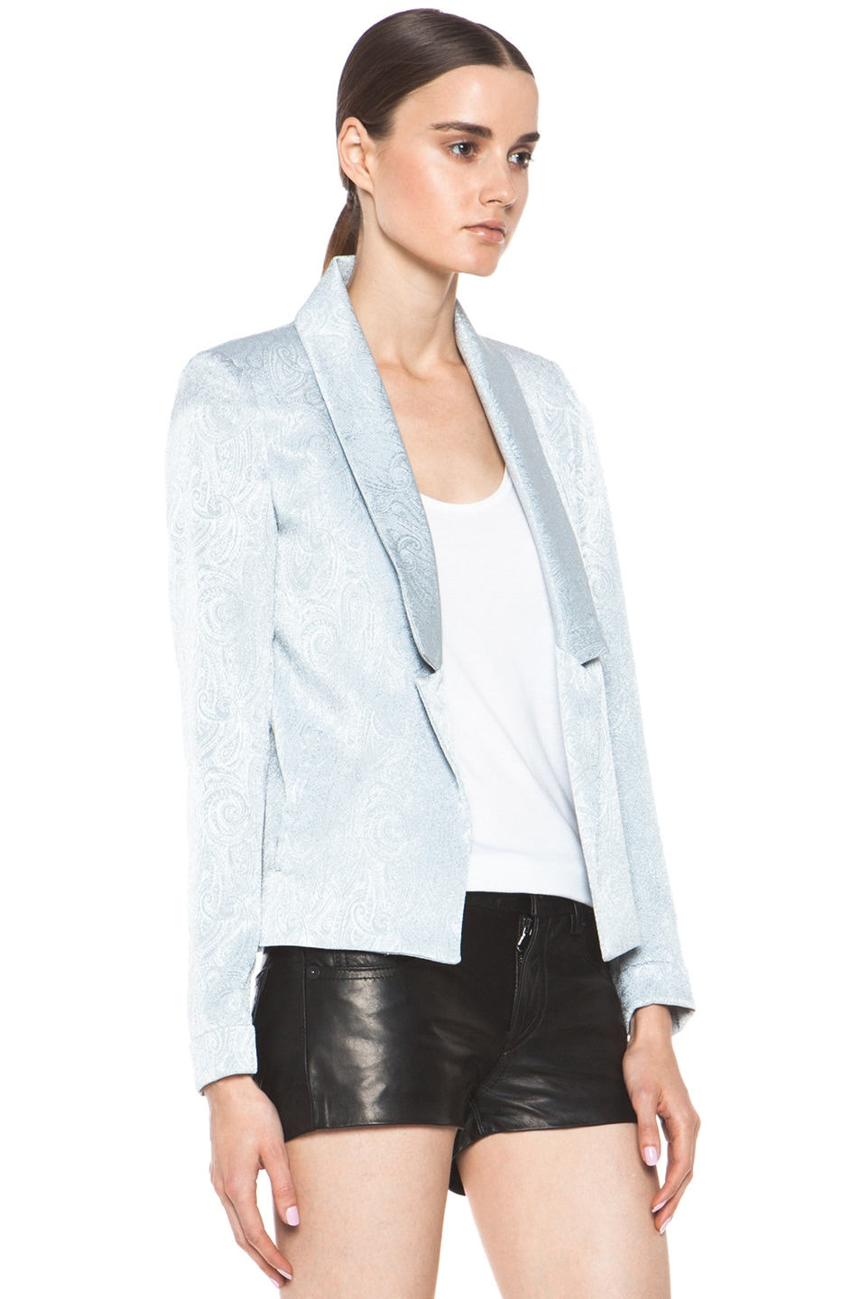 Image 3 of Laveer Savoy Blazer in Silver