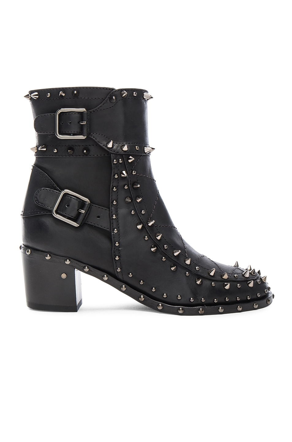 Image 1 of Laurence Dacade Badely Leather Boots in Black & Rutenium