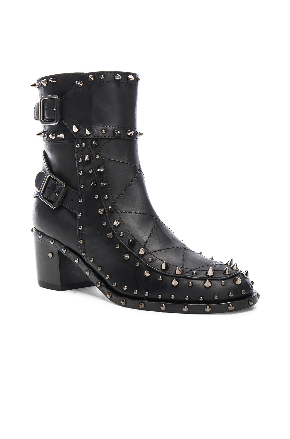 Image 2 of Laurence Dacade Badely Leather Boots in Black & Rutenium