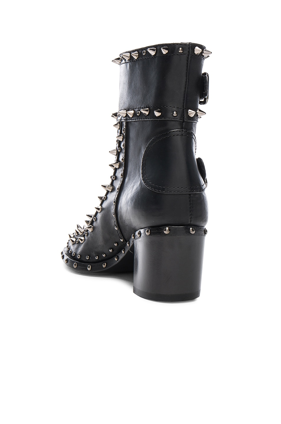 Image 3 of Laurence Dacade Badely Leather Boots in Black & Rutenium